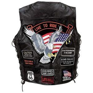 4X Rock Design Genuine Buffalo Leather Vest